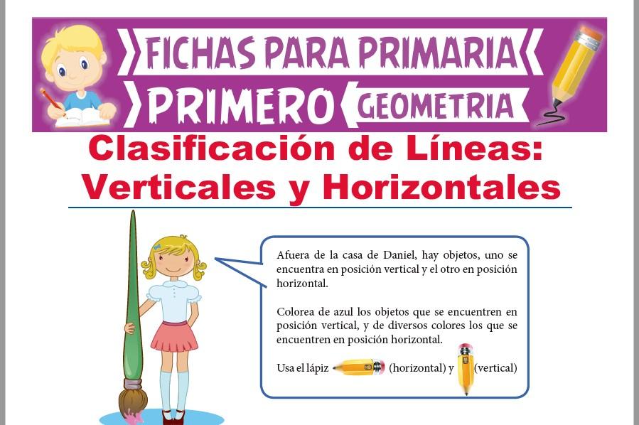 Ficha de Líneas Verticales y Horizontales para Primer Grado de Primaria