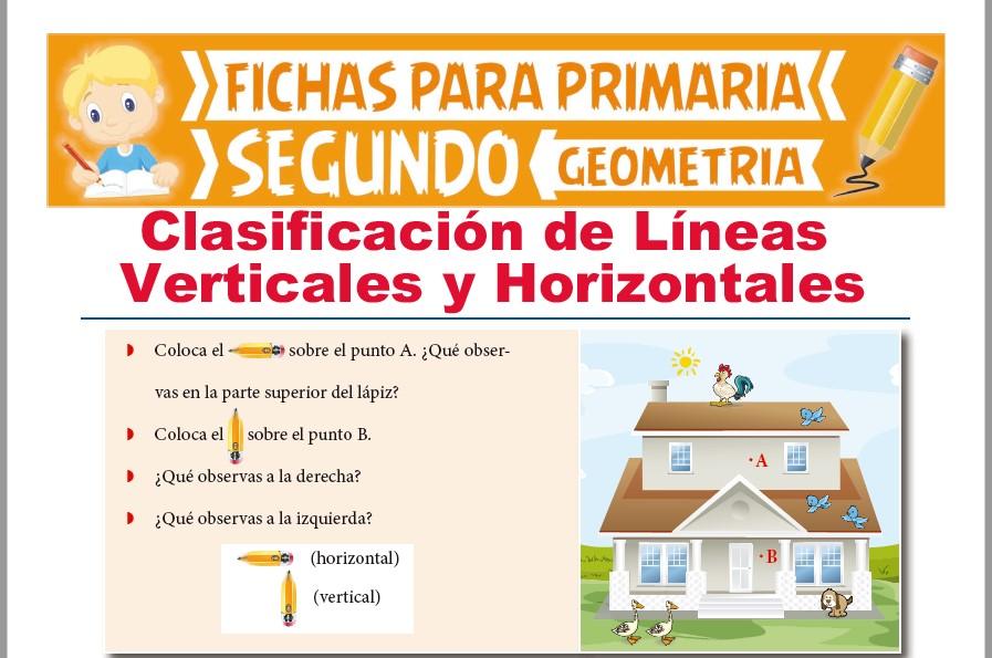 Ficha de Líneas Verticales y Líneas Horizontales para Segundo Grado de Primaria