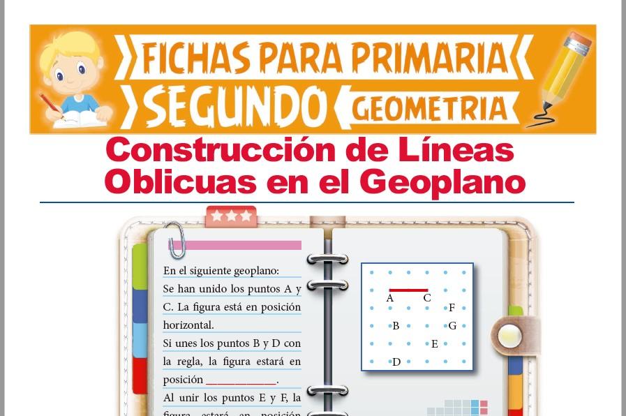 Ficha de Las Líneas Oblicuas en el Geoplano para Segundo Grado de Primaria