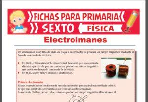 Ficha de Los Electroimanes para Sexto Grado de Primaria
