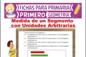 Ficha de Medida de un Segmento con Unidades Arbitrarias para Primer Grado de Primaria