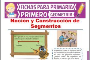 Ficha de Noción y Construcción de Segmentos para Primer Grado de Primaria