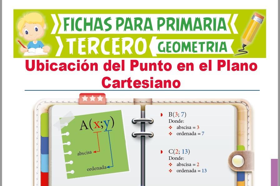 Ficha de Pares Ordenados para Tercer Grado de Primaria