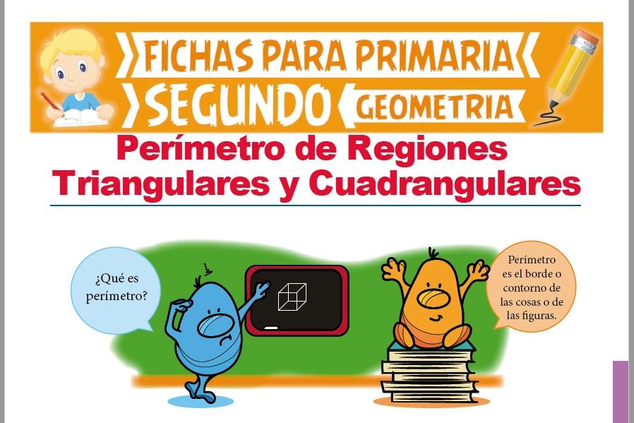 Ficha de Perímetro de Regiones Triangulares y Cuadrangulares para Segundo Grado de Primaria