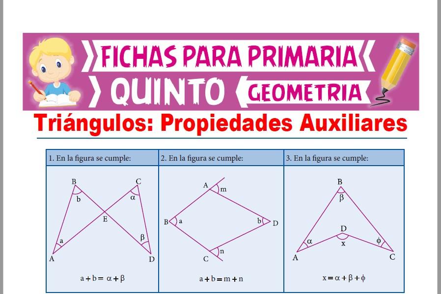 Ficha de Propiedades Relativas de los Triángulos para Quinto Grado de Primaria