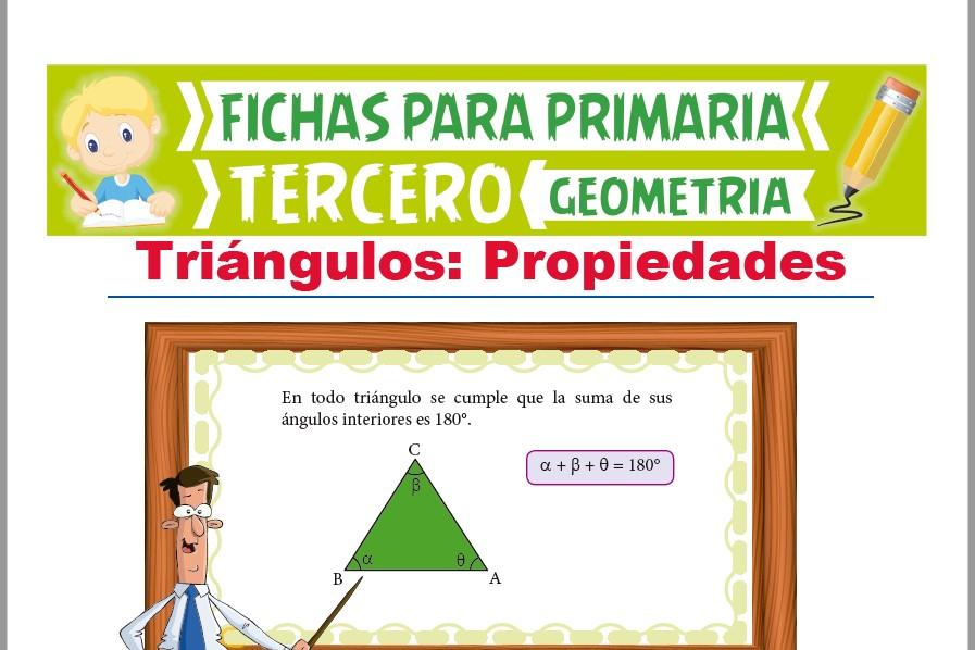 Ficha de Propiedades del Triángulo para Tercer Grado de Primaria