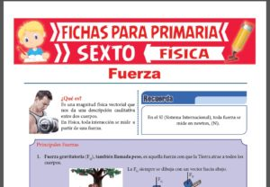 Ficha de Que es la Fuerza para Sexto Grado de Primaria