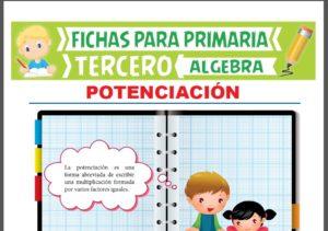 Ficha de Que es la Potenciación para Tercer Grado de Primaria