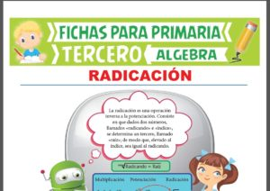 Ficha de Que es la Radicación para Tercer Grado de Primaria