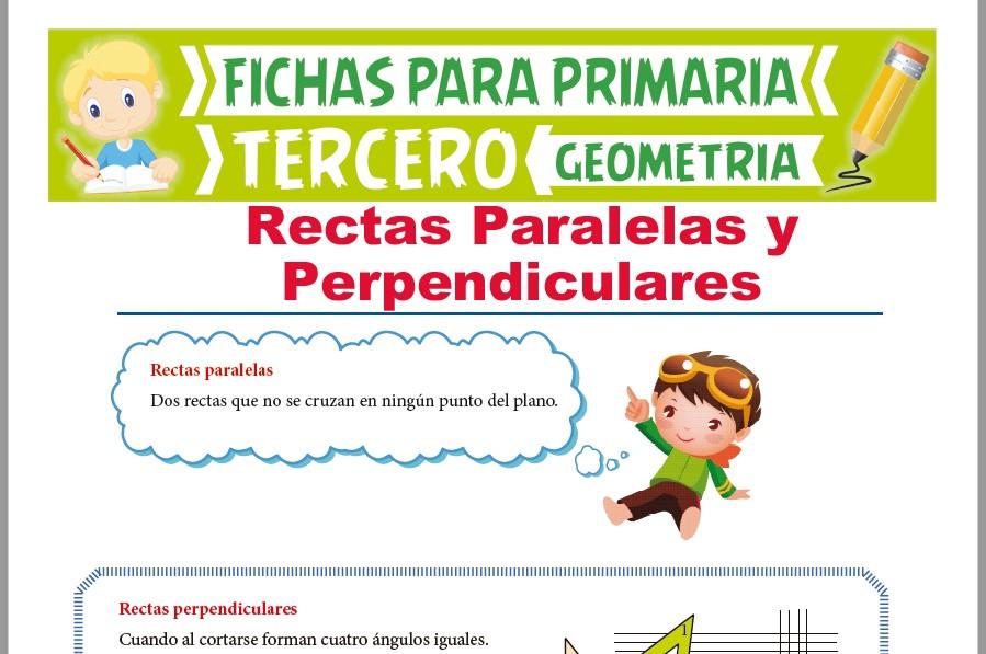 Ficha de Rectas Paralelas y Perpendiculares para Tercer Grado de Primaria