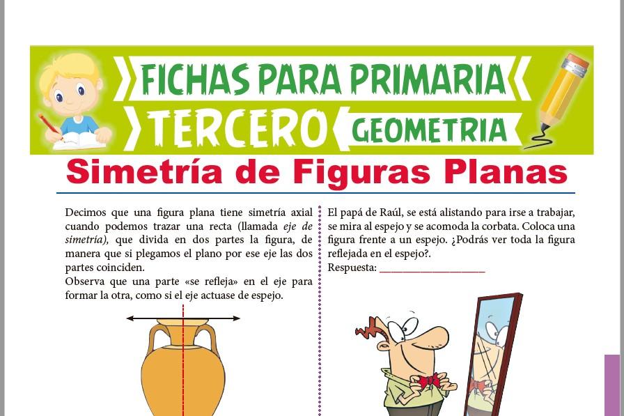 Ficha de Simetría de Figuras Planas para Tercer Grado de Primaria