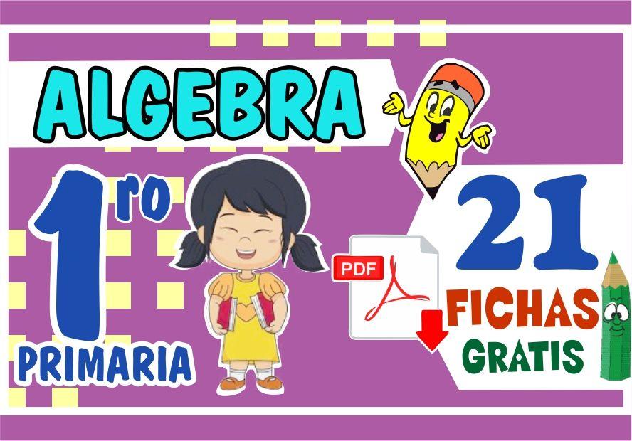Actividades del algebra para primer grado de primaria