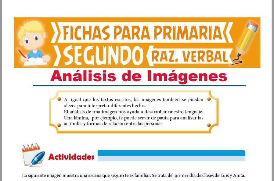 Ficha de Análisis de Imágenes para Segundo Grado de Primaria