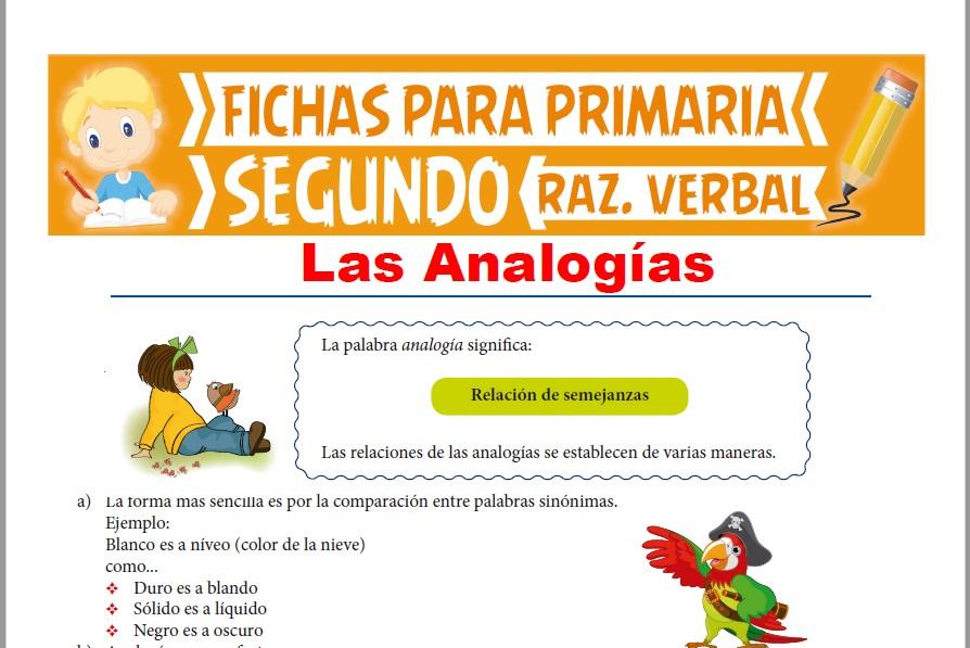 Ficha de Ejercicios de Analogías para Segundo Grado de Primaria