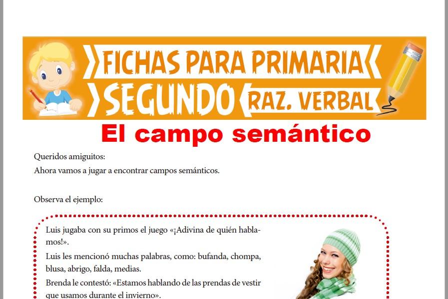 Ficha de El Campo Semántico para Segundo Grado de Primaria