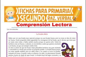 Ficha de Lectura La Brujita Dulce para Segundo Grado de Primaria