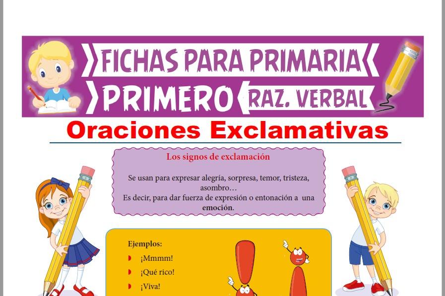 Ficha de Oraciones Exclamativas para Primer Grado de Primaria