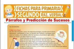 Ficha de Párrafos y Predicción de Sucesos para Segundo Grado de Primaria