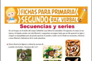 Ficha de Secuencias y Series para Segundo Grado de Primaria