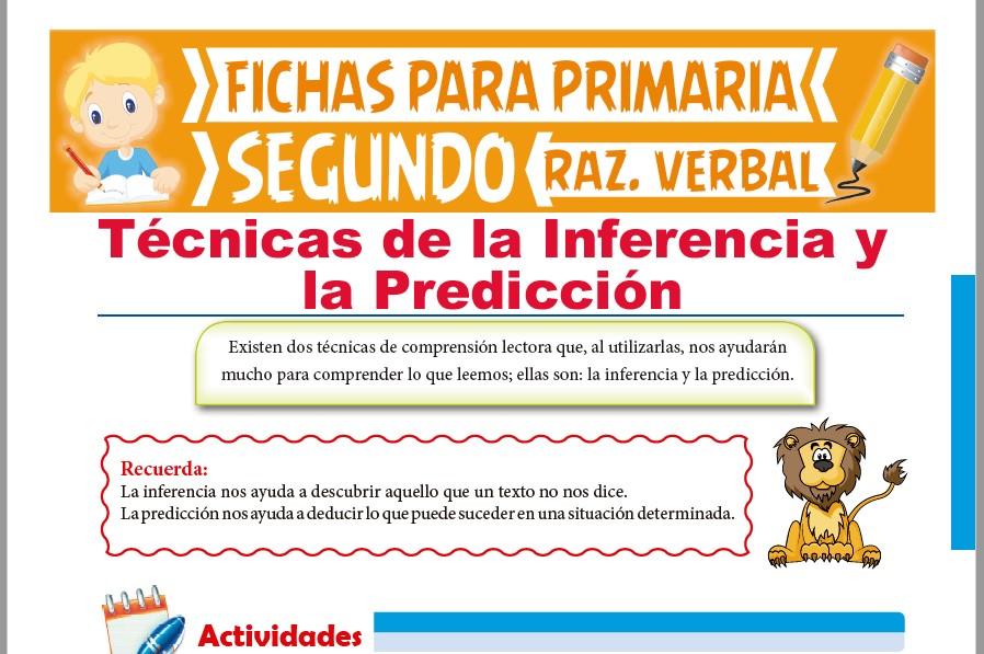 Ficha de Técnicas de la Inferencia y la Predicción para Segundo Grado de Primaria