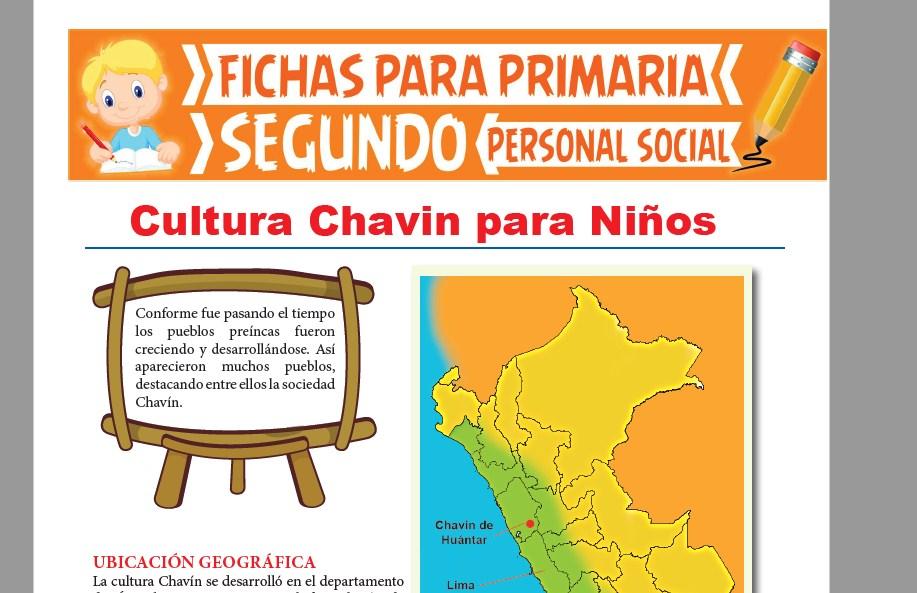 Ficha de Cultura Chavín para Niños para Segundo Grado de Primaria