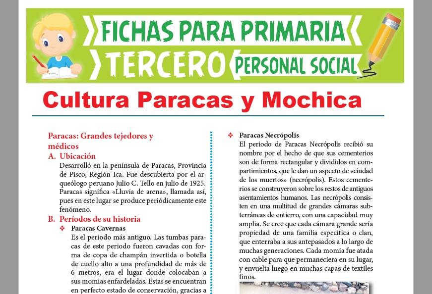 Ficha de Cultura Paracas y Mochica para Tercer Grado de Primaria