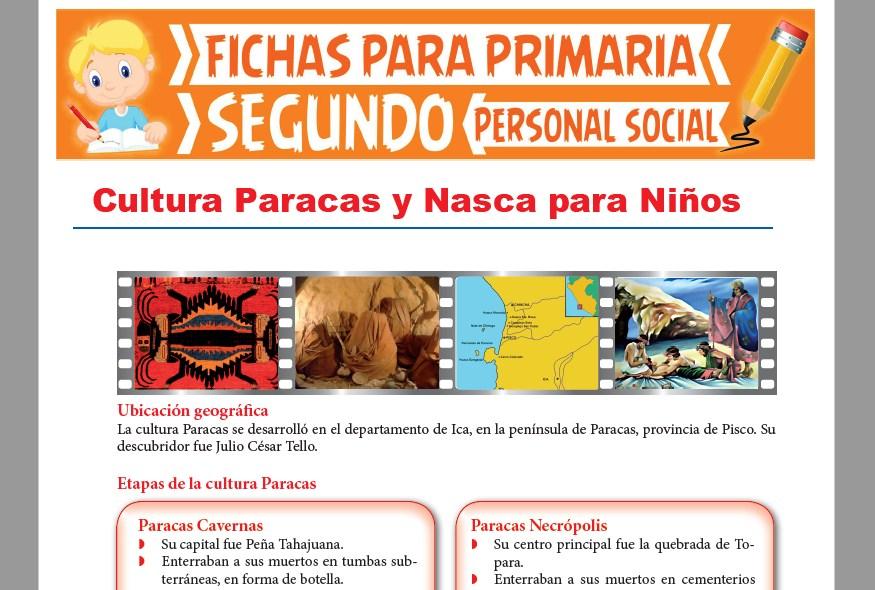 Ficha de Culturas Paracas y Nasca para Niños para Segundo Grado de Primaria