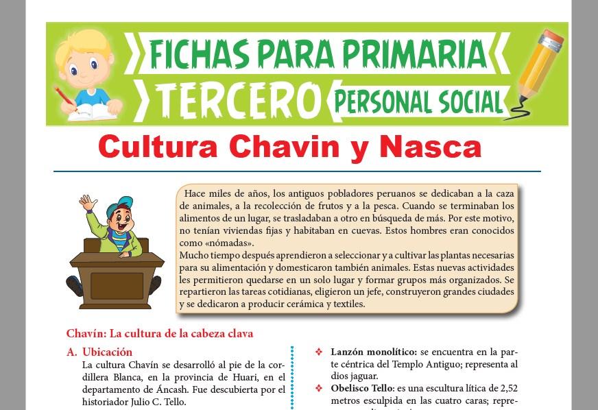 Ficha de Cultura Chavin y Nazca para Tercer Grado de Primaria