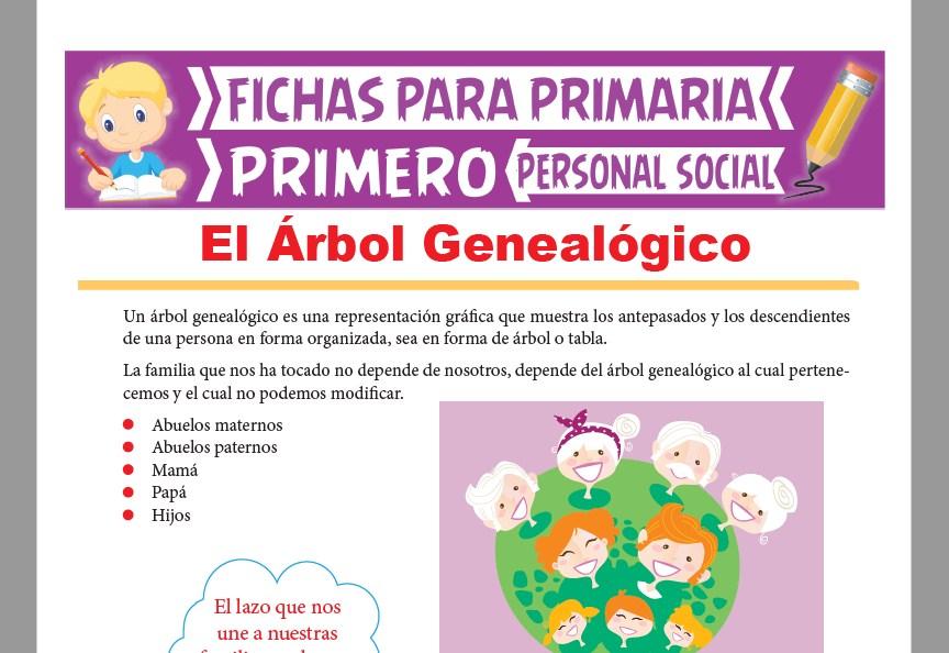 Ficha de El Árbol Genealógico para Primer Grado de Primaria