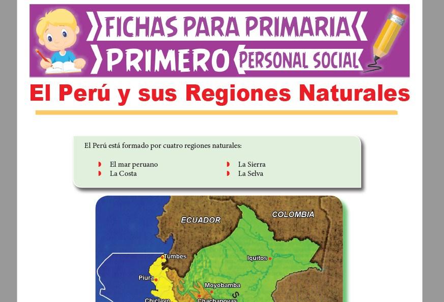 Ficha de El Perú y sus Regiones Naturales para Primer Grado de Primaria