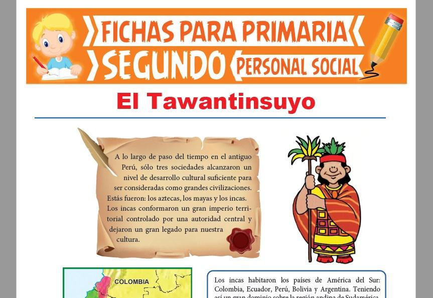 Ficha de El Tawantinsuyo para Niños para Segundo Grado de Primaria