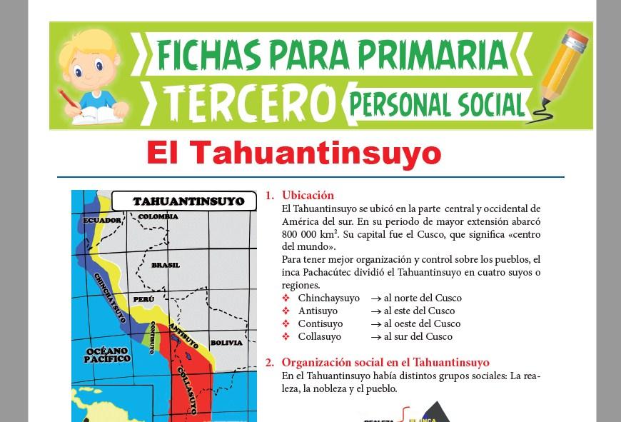 Ficha de El Tawantinsuyo para Tercer Grado de Primaria
