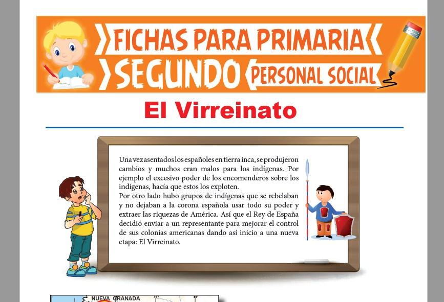 Ficha de El Virreinato del Perú para Segundo Grado de Primaria