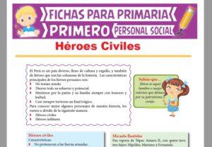 Ficha de Héroes Civiles para Primer Grado de Primaria