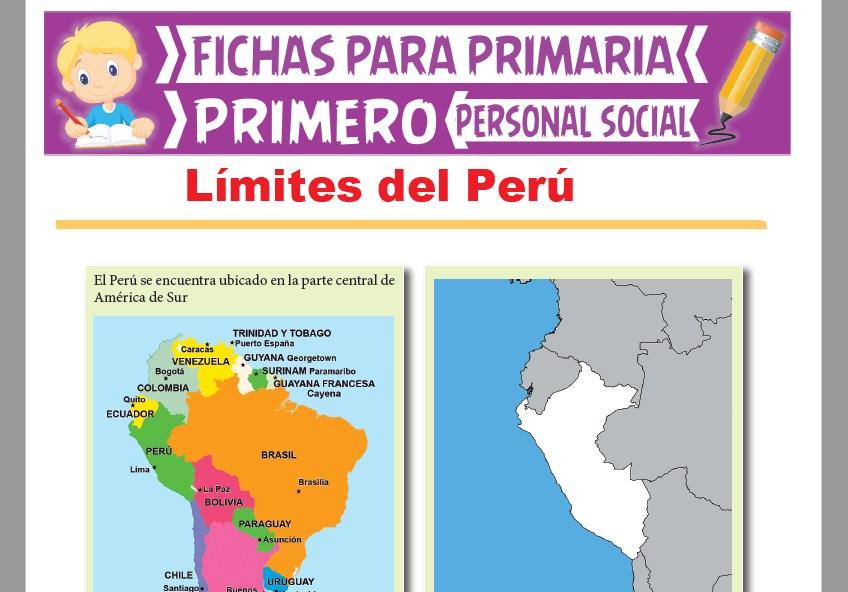 Ficha de Límites del Perú para Primer Grado de Primaria