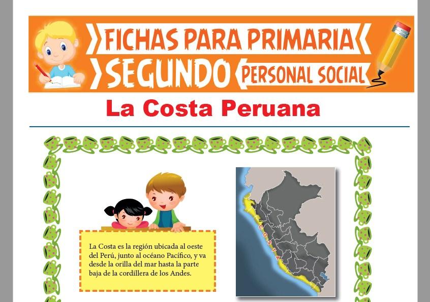Ficha de La Costa Peruana para Segundo Grado de Primaria