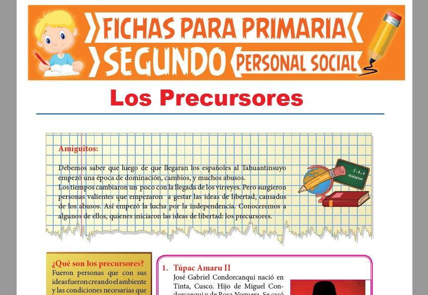 Ficha de Los Precursores para Segundo Grado de Primaria