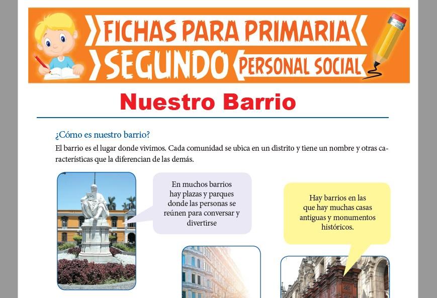 Ficha de Nuestro Barrio para Segundo Grado de Primaria