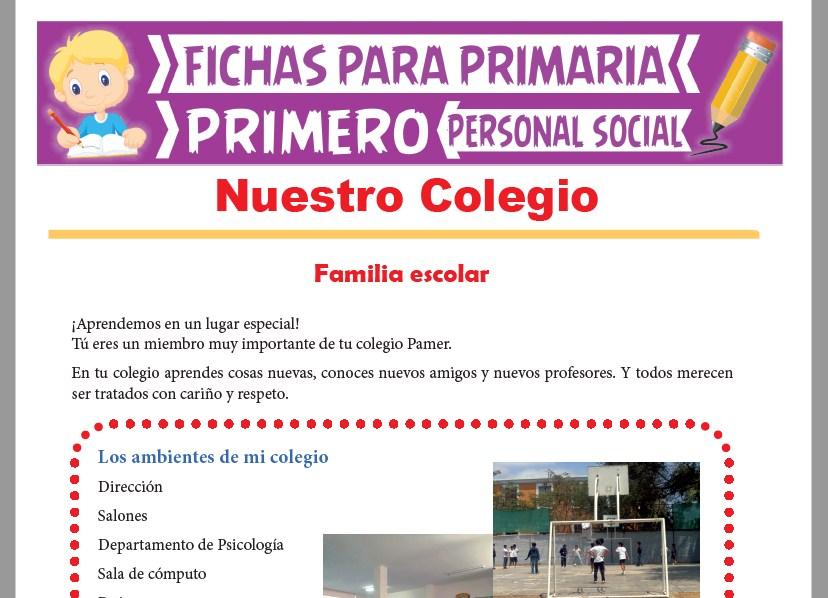Ficha de Nuestro Colegio para Primer Grado de Primaria
