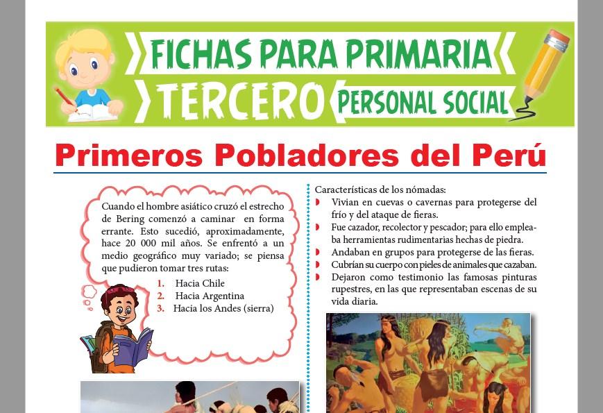 Ficha de Primeros Pobladores Peruanos para Tercer Grado de Primaria
