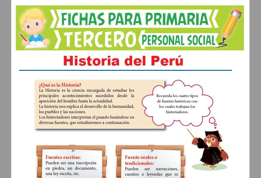 Ficha de ¿Qué es la Historia? para Tercer Grado de Primaria