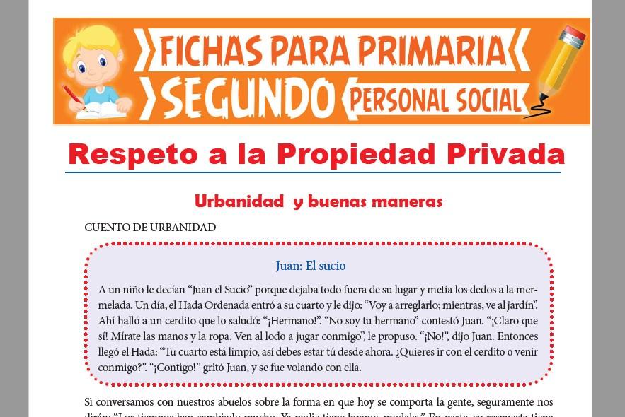 Ficha de Respeto a la Propiedad Ajena para Segundo Grado de Primaria
