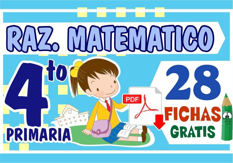 Problemas de Razonamiento Matemático para Cuarto Grado ...