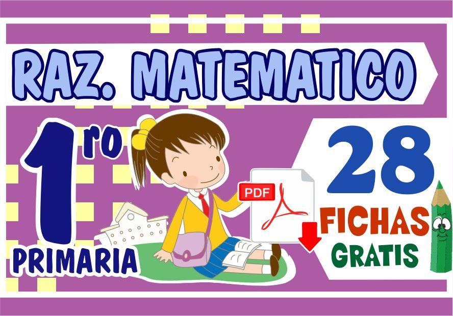 Fichas de Razonamiento Matematico para Primer Grado de Primaria
