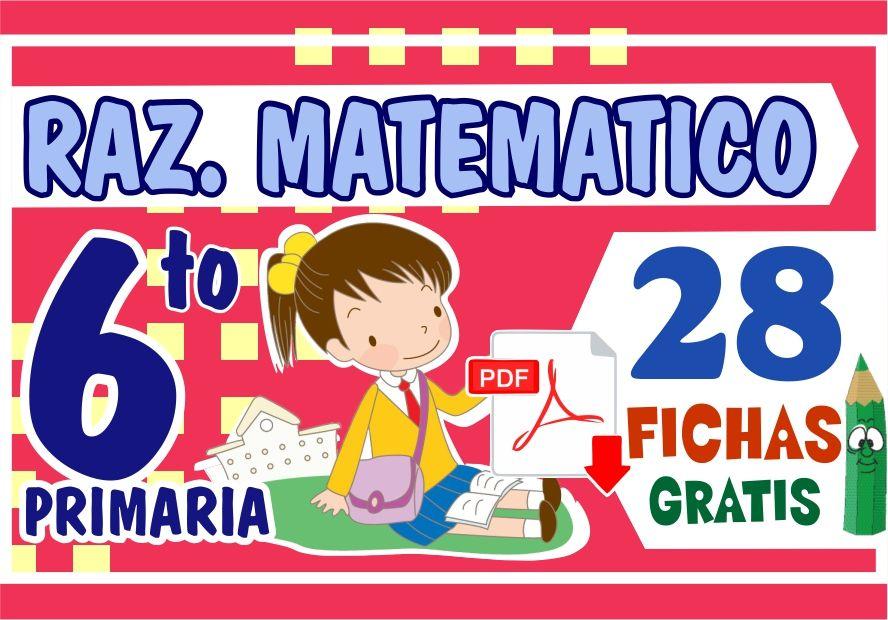 Razonamiento Matemático Ejercicios Para Sexto Grado De Primaria