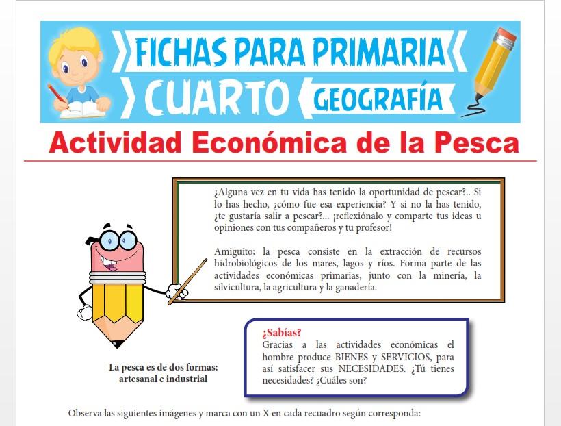Ficha de Actividad Económica de la Pesca para Cuarto Grado de Primaria