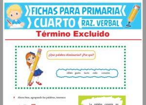 Ficha de Actividades del Término Excluido para Cuarto Grado de Primaria