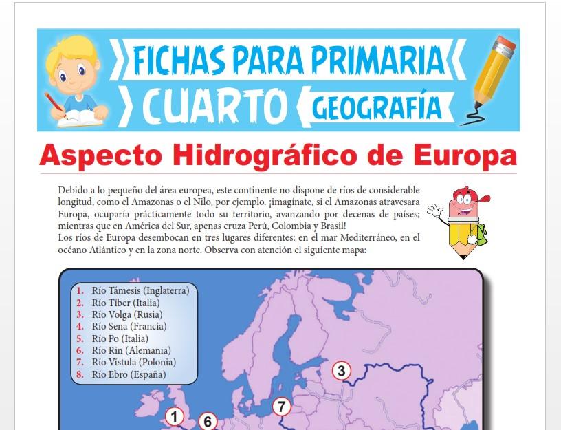 Ficha de Aspecto Hidrográfico de Europa para Cuarto Grado de Primaria