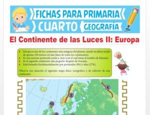 Ficha de Aspecto Orográfico de Europa para Cuarto Grado de Primaria