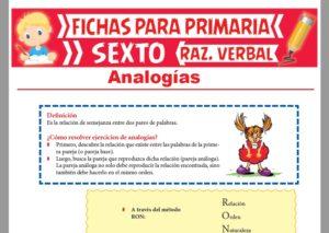Ficha de Cómo Resolver Ejercicios de Analogías para Sexto Grado de Primaria